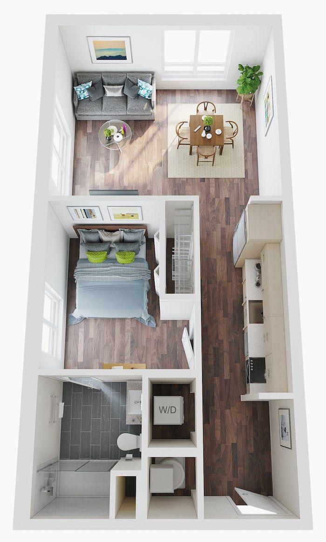 Micro Studio 1 2 3 Bedroom Apartments Lake Nona Pixon In 2020 Small Apartment Floor Plans Small Apartment Plans Small Apartment Layout