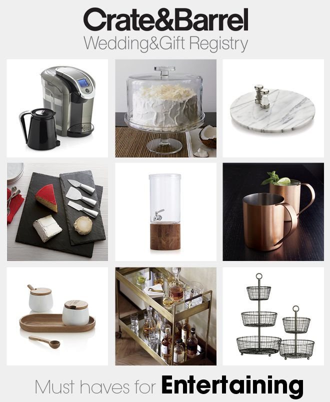 Crate And Barrel Wedding Gifts: Crate & Barrel Wedding Registry Must Haves!