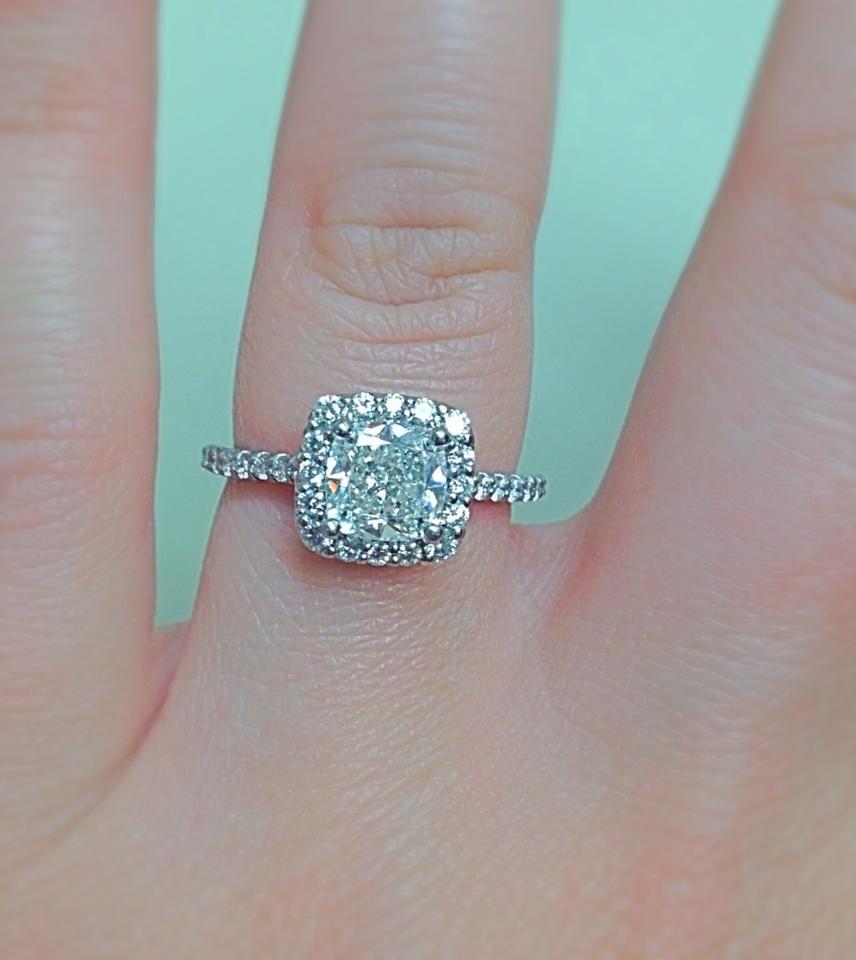 Ritani Frenchset Cushion Halo Engagement Ring  #ritanipinterest