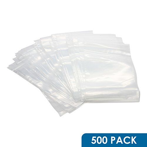 """50 Pack 5/"""" x 6/"""" Reclosable Clear Plastic Poly Zipper Bags 6 Mil Heavy Duty"""