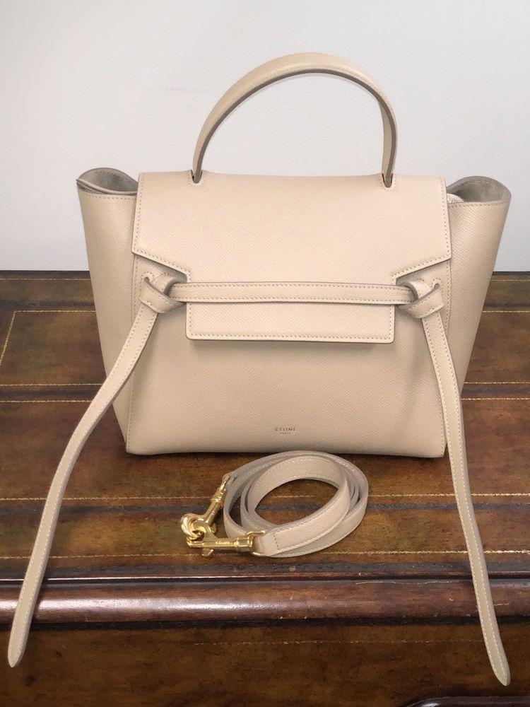 3fde084c2032 Celine Women s Micro Belt Bag Grained Leather Calfskin Light Taupe ...