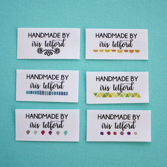 personalized sewing labels, quilt labels, fabric tags