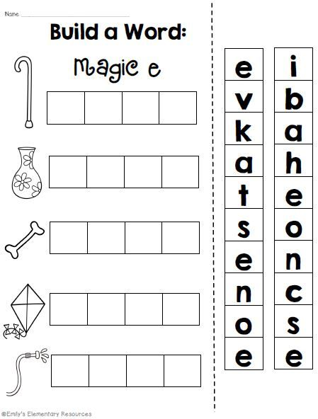 Magic E {Long Vowel CVCe Phonics/Word Work Printables