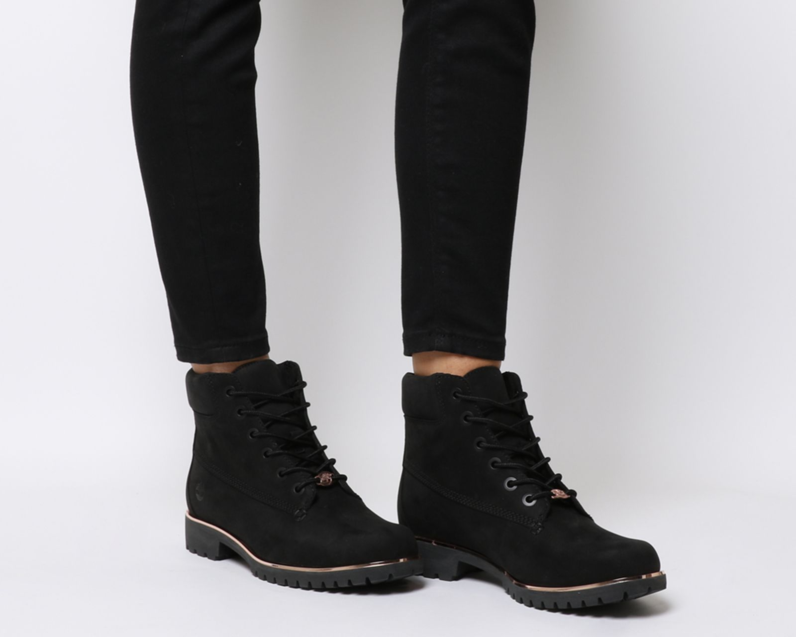 black slim timberlands