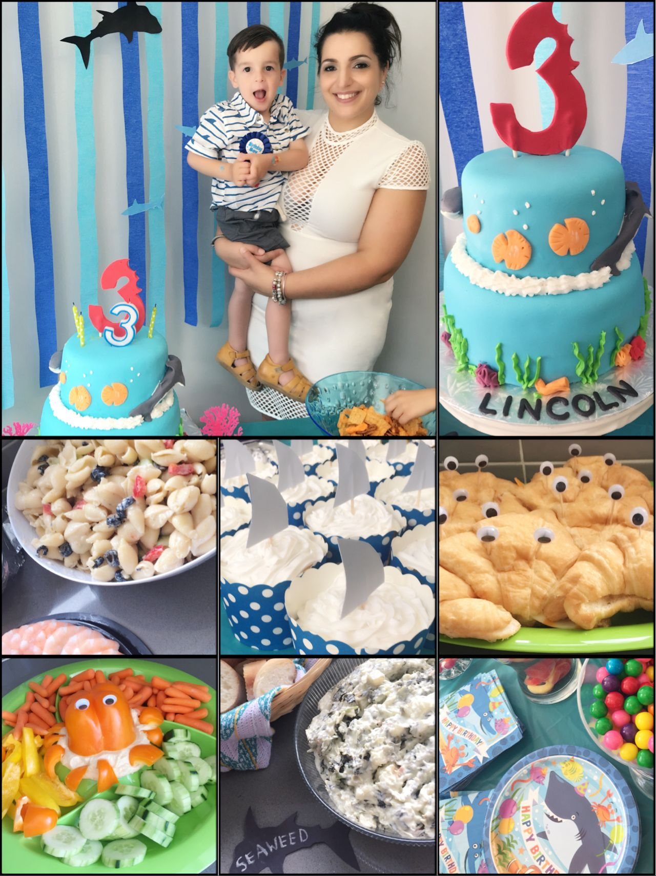 Under The Sea Shark Party Ideas Seashell Pasta Seaweed Dip Fin Cupcakes Crab Sandwiches Octopus Theme Toddler Boy Birthday