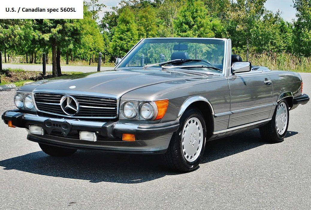Mercedes R107 560sl Us And Canadian Spec Mercedes Mercedes Benz Classic Classic Mercedes