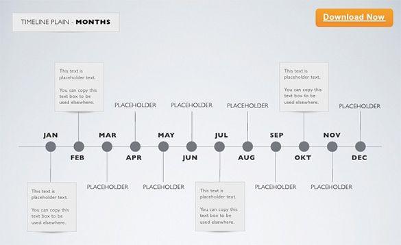 Minimal-Timeline-Keynote-Template-Monthjpg (585×358) Chronology - keynote timeline template