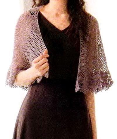 Free Russian Crochet Patterns | Crochet Shawls: Crochet Lace Cape ...