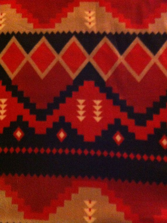 Tribal Print Fleece Blanket by TwoHeartsbyAmanda on Etsy, $35.00