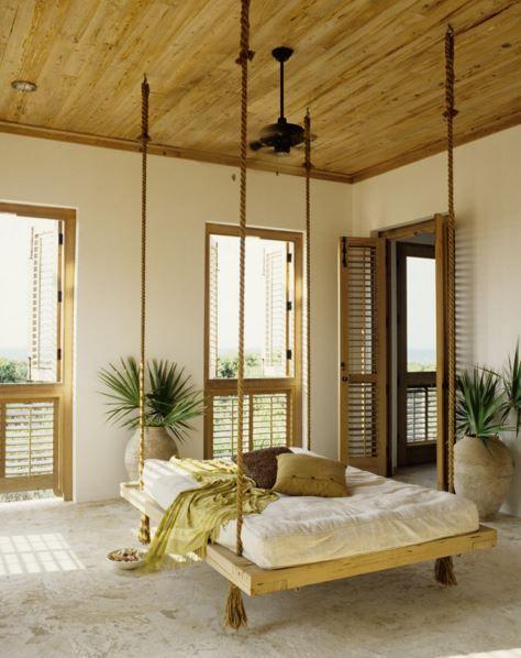 Betten Für Kleine Räume, Natürliches Schlafzimmer, Schlafzimmer Ideen,  Schlafzimmerdeko, Schlafbereich Veranda, Deko Ideen, Platzsparende Betten,  Betten