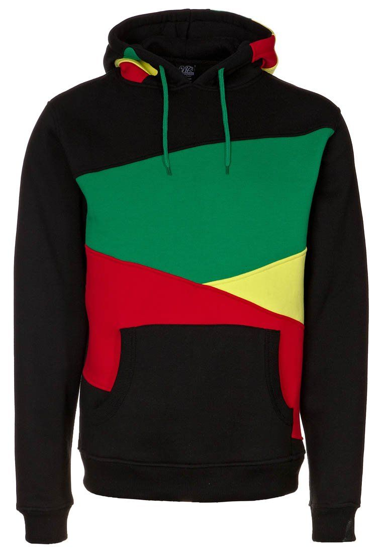 Urban Classics - ZIG ZAG HOODY - Sweatshirt - black/rasta