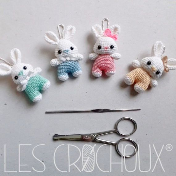 Amigurumi lapin tricot 3/3 / Miss Bunny amigurumi knit (english ... | 570x570