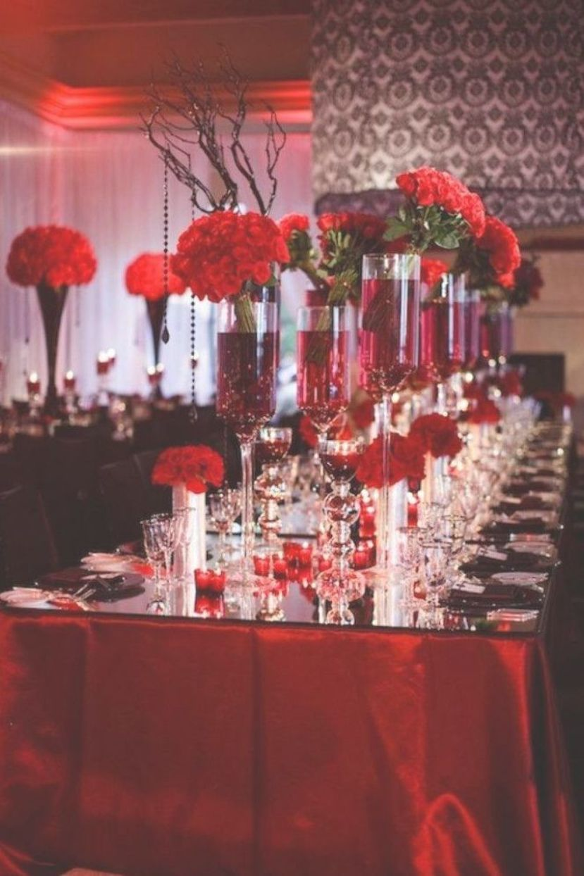 Red White And Black Wedding Table Decorating Ideas Wedding In Christmas Pinterest Wedd Red Wedding Decorations White Wedding Decorations Red Table Decorations
