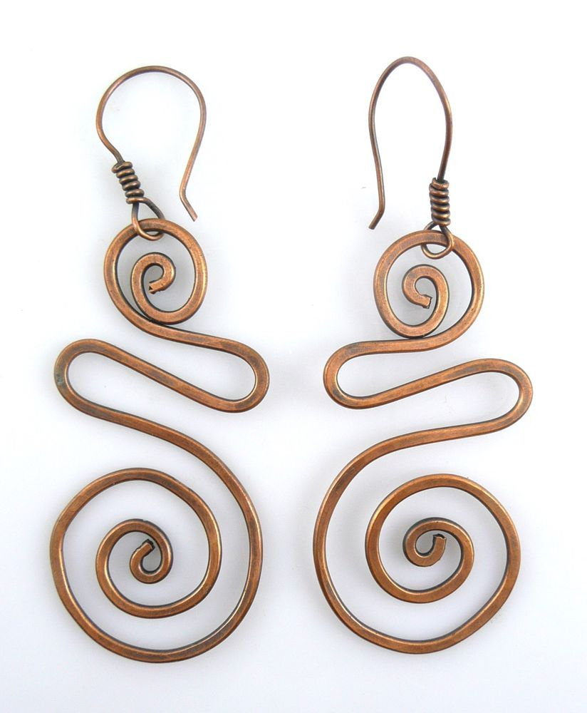 HUGE Vintage 1960s 70s Handmade Copper Wire Modernist Design Pierced ...