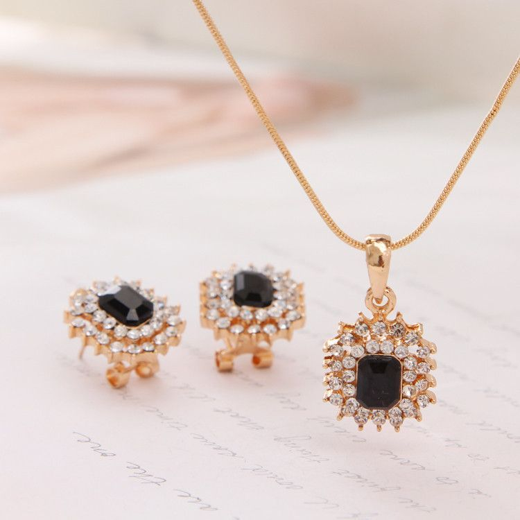 Top quality 18k gold plated necklace stud earrings set products cheap bridal necklace buy quality rhinestone jewelry set directly from china pendant set suppliers hot 2017 austrian crystal jewelry set for women rose mozeypictures Image collections