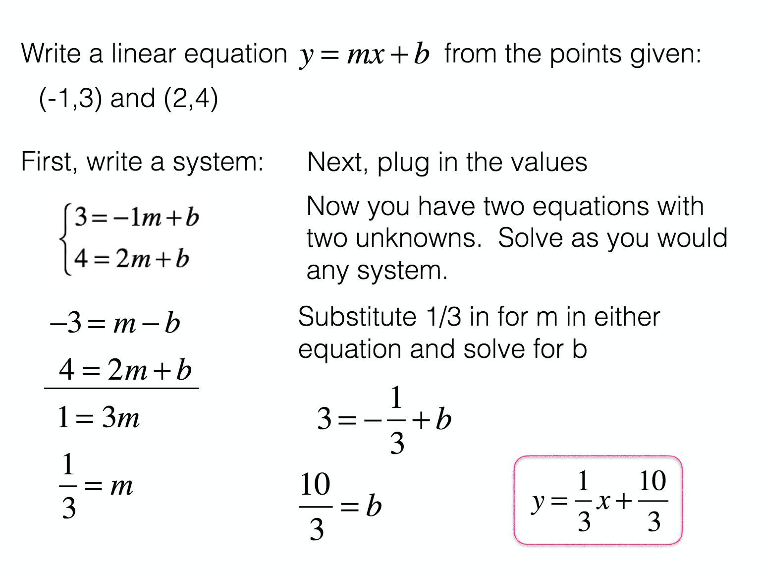 Presentation Session Math notes, Math tricks, Linear