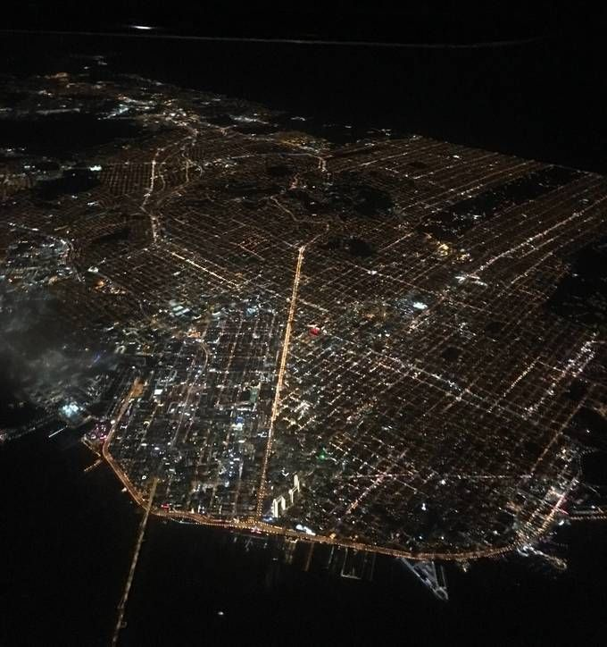I took this picture of a beautiful city last night while passing through its airspace