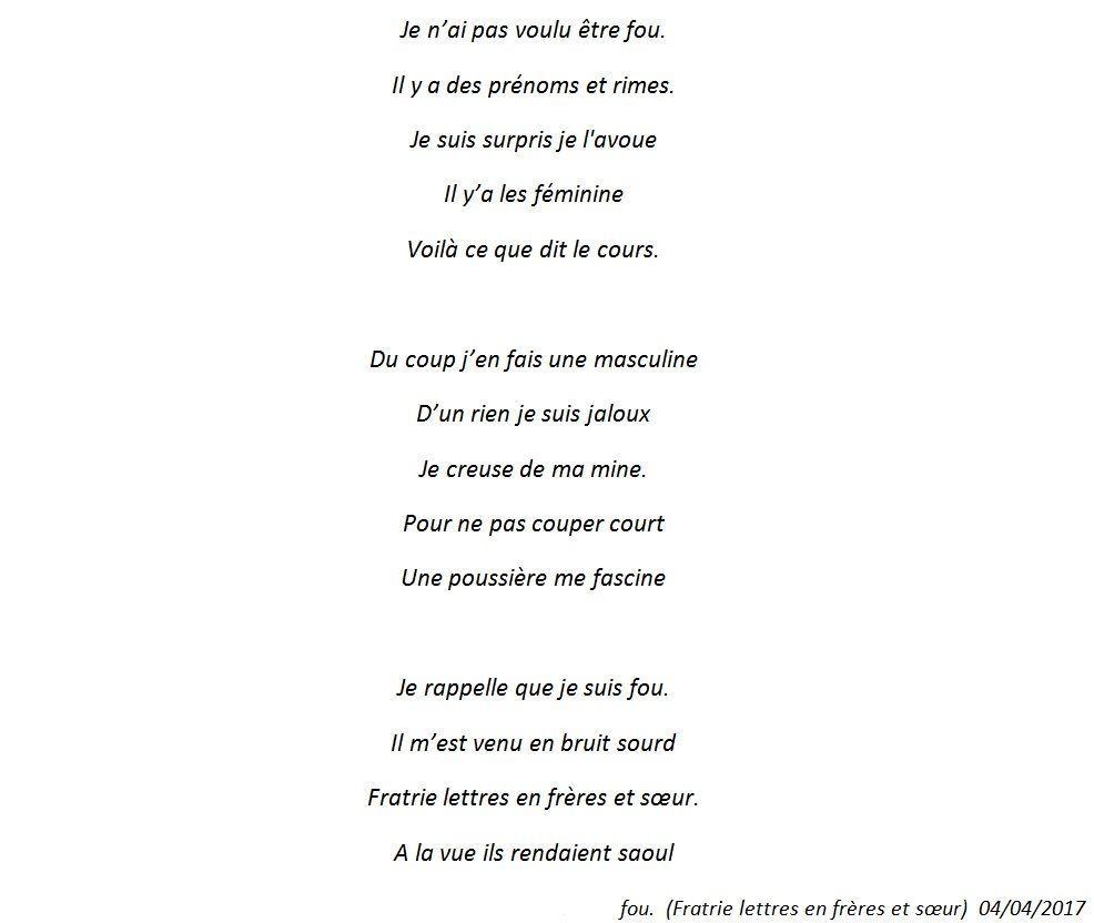 Fratrie Lettres En Frères Et Sœurs Poète Fou Gojif Fouad