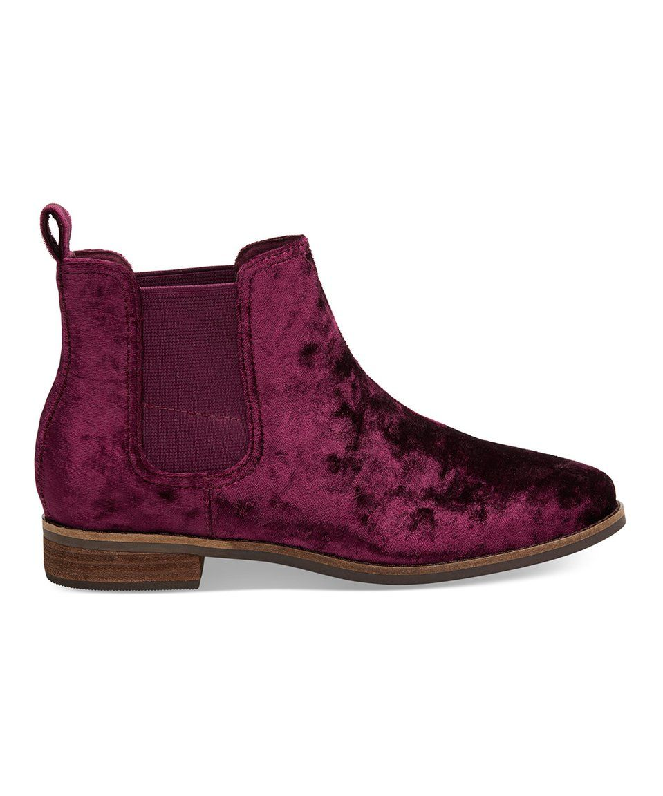 d3f1fa371422 Take a look at this Black Cherry Ella Velvet Bootie - Women today ...