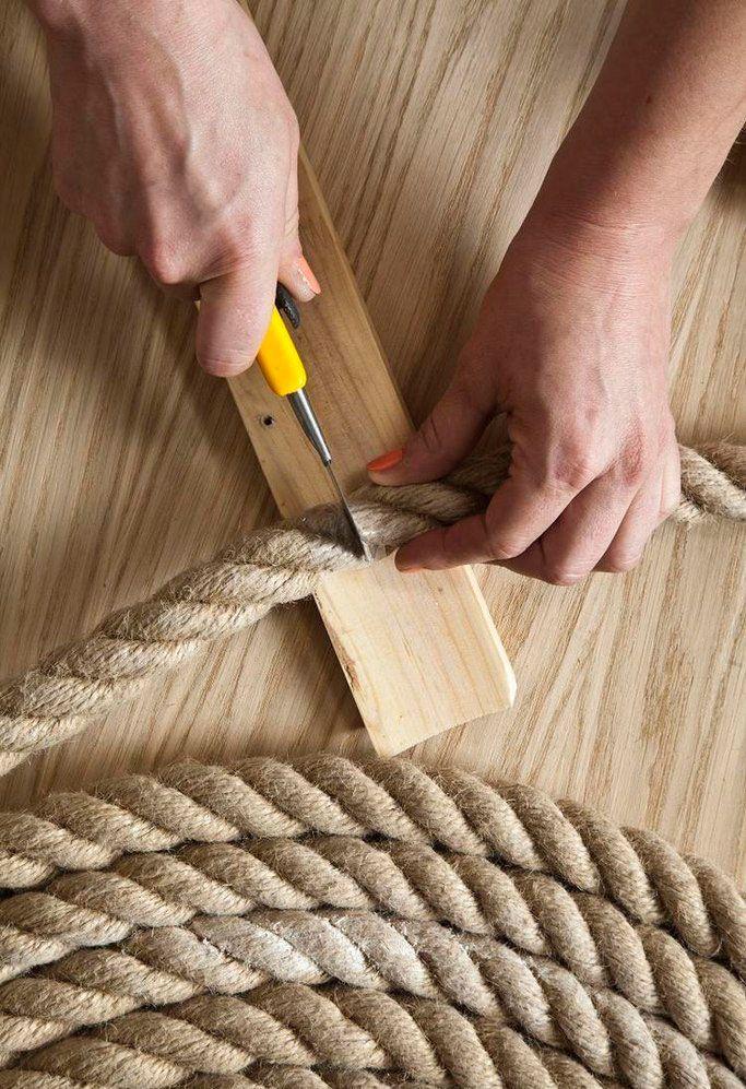 Un elegante tappeto di corda fai da te Rope rug, Braided