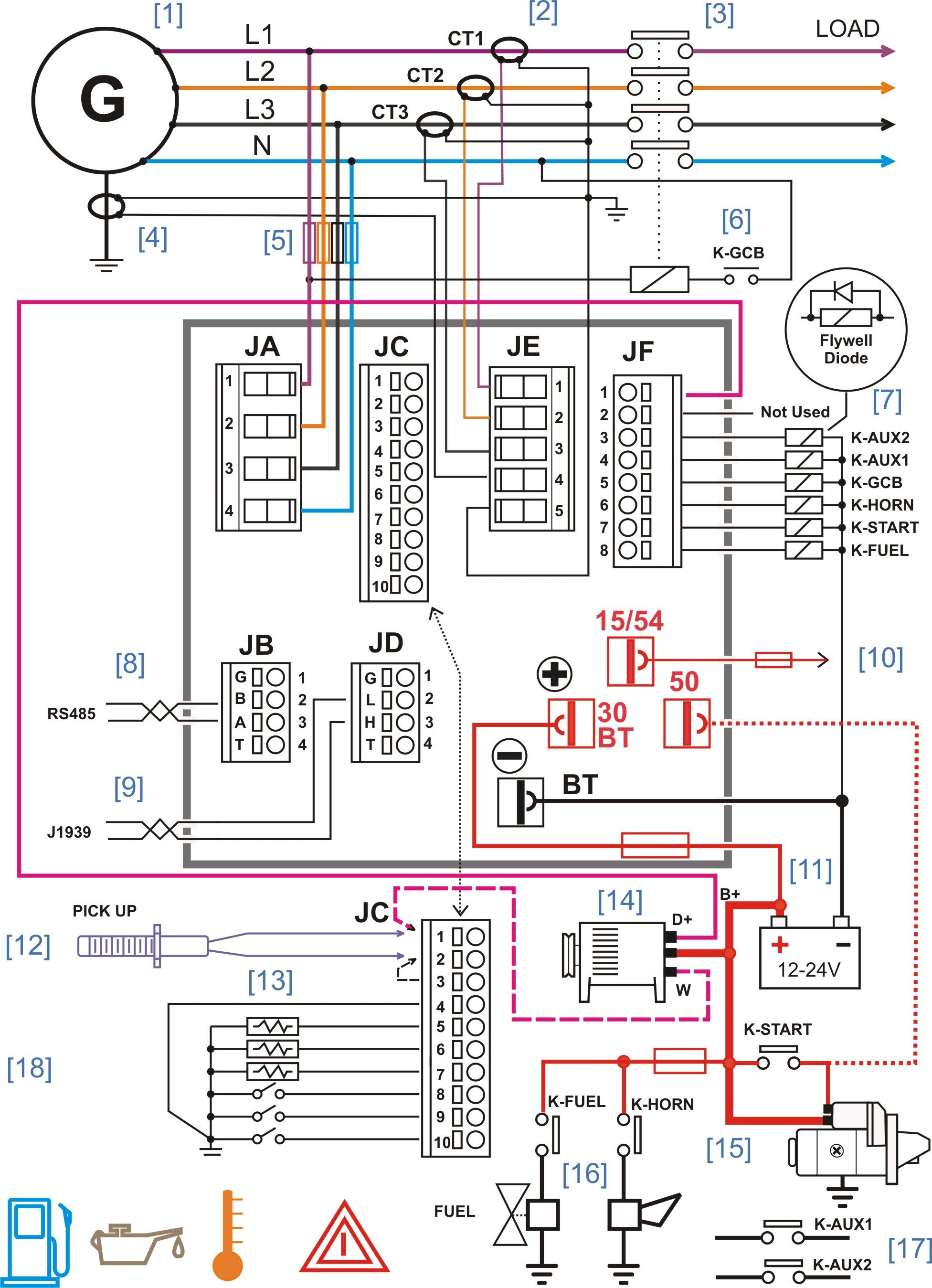 diesel generator control panel wiring diagram diesel generators rh pinterest com wiring diagram for a starter generator wiring diagram for generator changeover switch