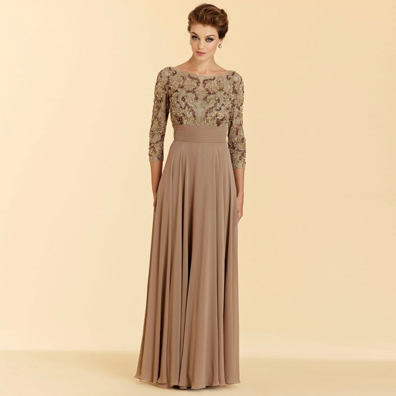 Click To Buy 2017 Cheap Mother Of The Bride Gowns Three Quarter