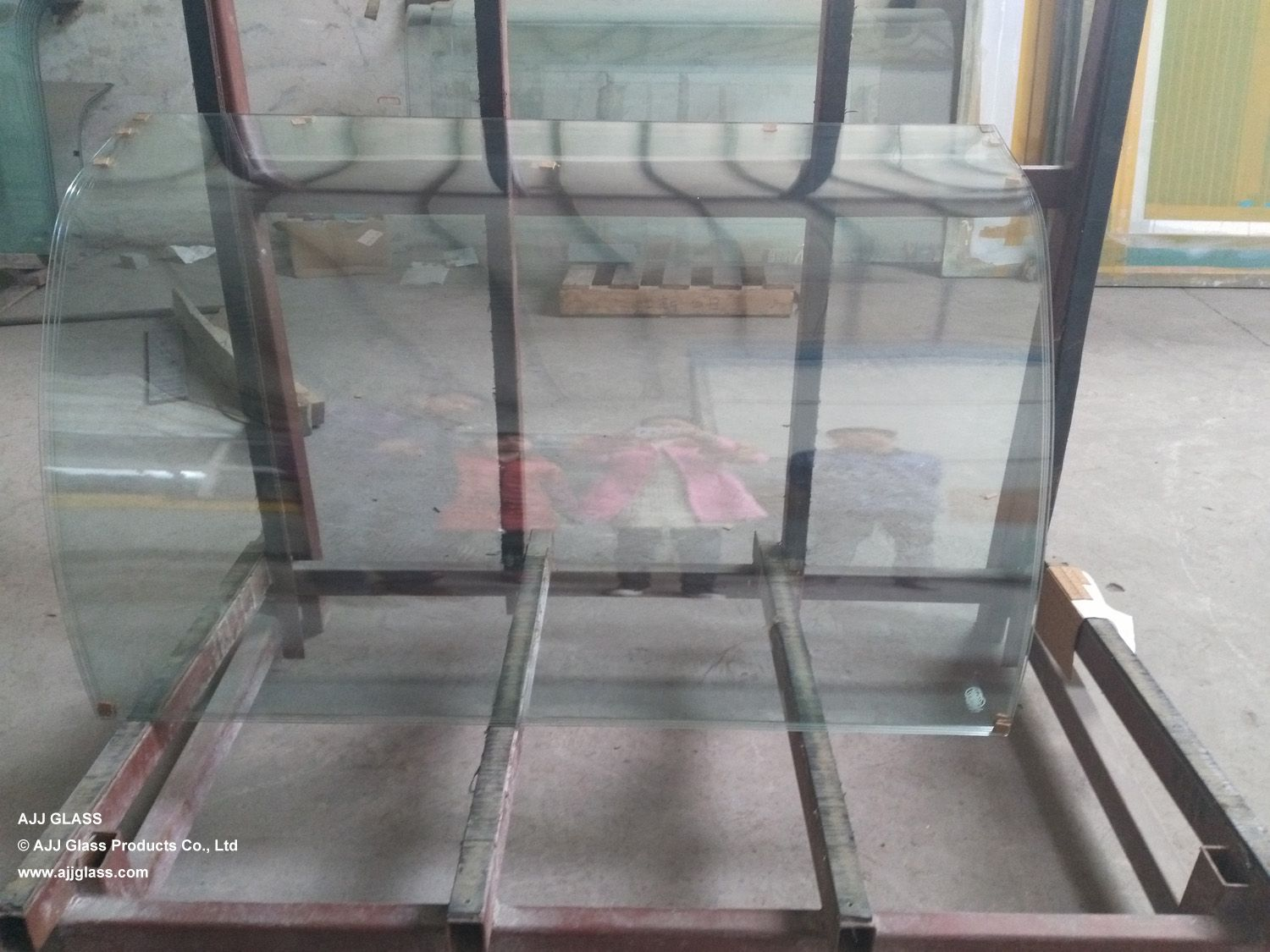 6mm double curved tempered glass
