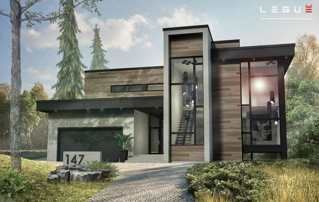 Plan de Maison Moderne Ë_147 Leguë Architecture Ilove - Plan De Maison Moderne