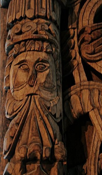 Stave church carvings.