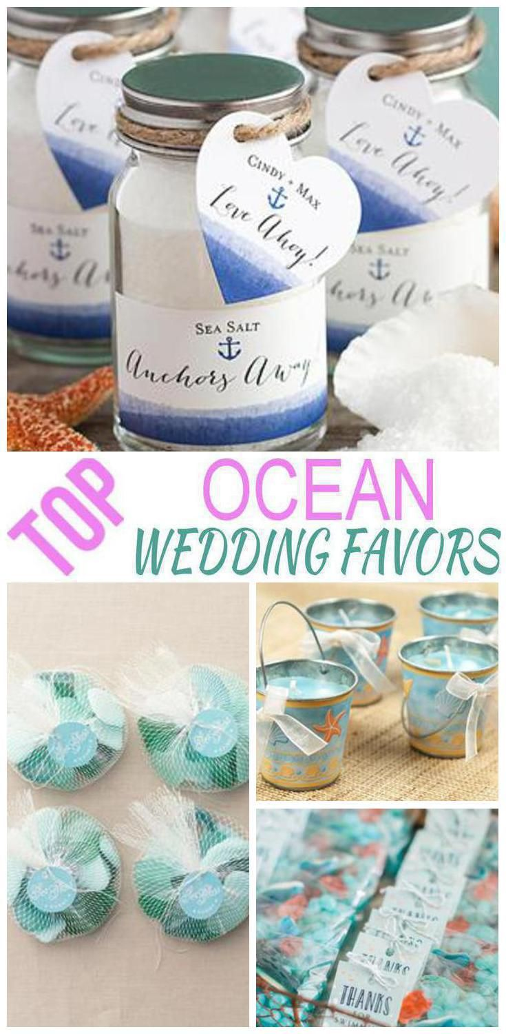 Ocean Wedding Favors | Favors, Ocean and Weddings