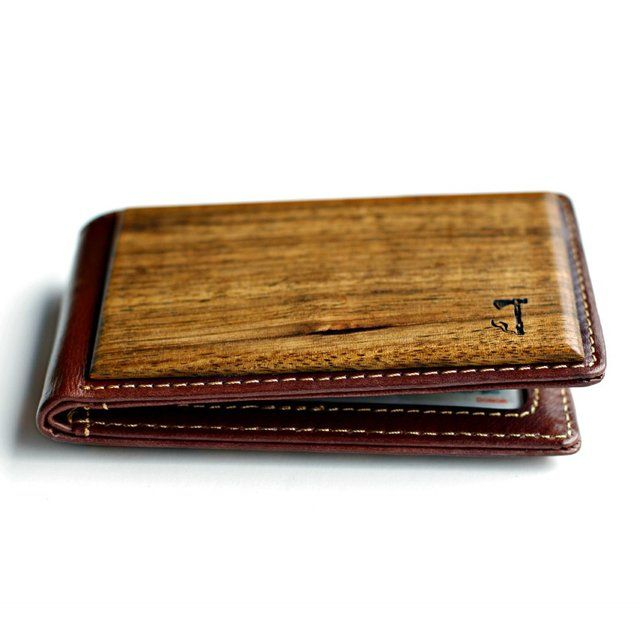 The zebrawood bifold wallet by Slim Timber is perfect for those who like to keep their wallet on the slimmer side. It works great as a front pocket wallet because of its size but can be used as a traditional wallet as well. Each wallet is comprised of high quality leather and two beautiful pieces of wood. The wallet has slots for 2 cards and an ID card. There is also a space behind the card slots that can comfortably hold 3 more cards. It also contains space to put a few bills in. And you…