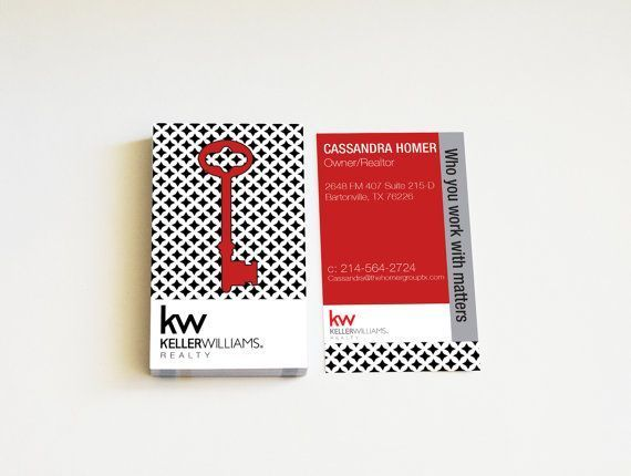 Real estate business cards custom realtor cards modern bw key card real estate business cards custom realtor cards modern bw key card for keller williams realtor keller reheart Image collections