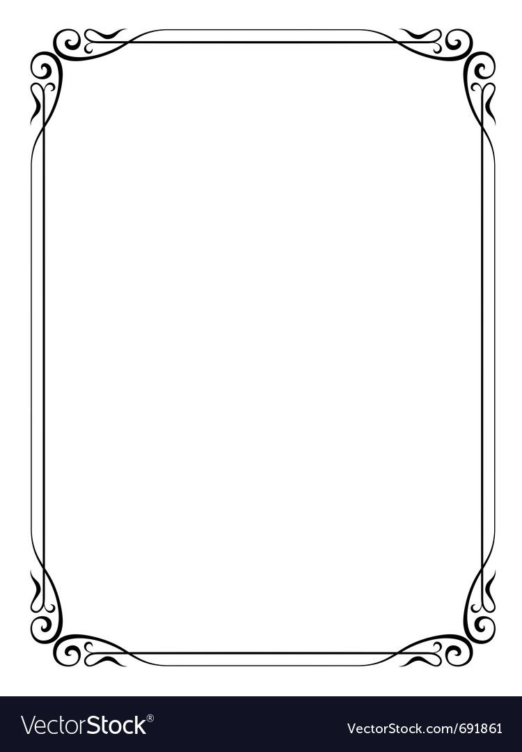 Simple ornamental decorative frame vector image on Frame