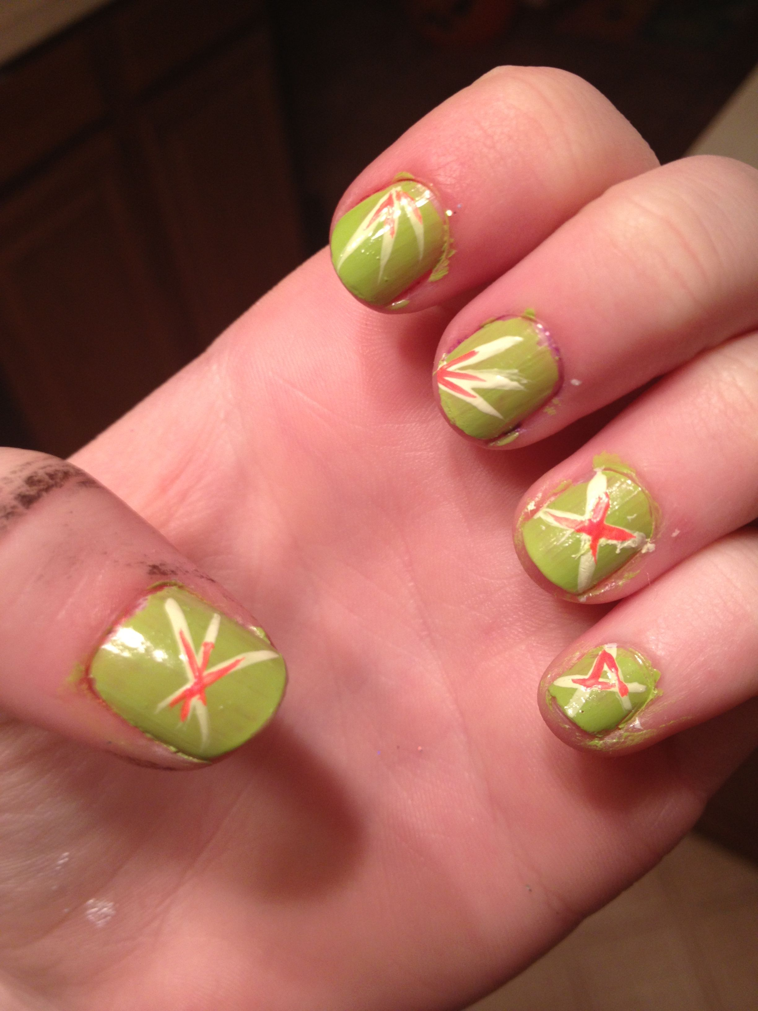 Weeeee finally finished my nails