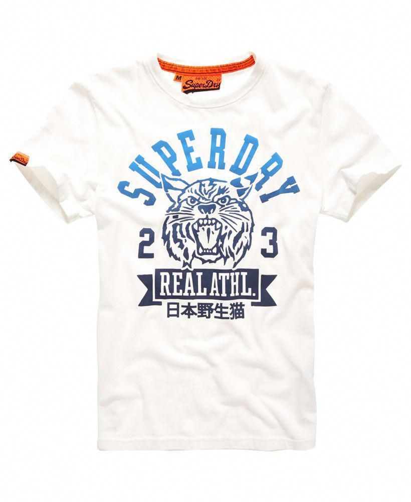 27773012a Mens - Real Wildcats T-shirt in New Chalk | Superdry #MensT-shirts ...