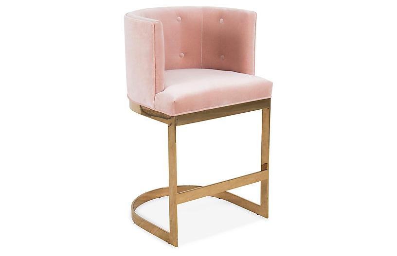 Wondrous Pietro Barstool Pink Velvet Products In 2019 Velvet Cjindustries Chair Design For Home Cjindustriesco