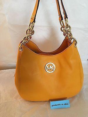 f08eeb05affe awesome Michael Kors Fulton Chain Medium Shoulder Bag 'Vintage Yellow' NWT  - For Sale