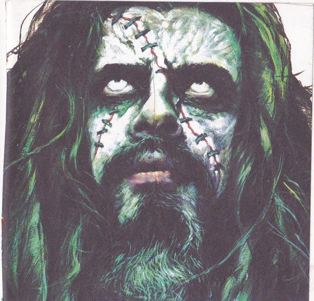 rob zombie band sticker album cover art heavy metal music halloween creepy ooak - Rob Zombie Halloween Music