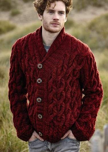 Rowan Brushed Fleece Book   Cosy Cardigan   Men\'s knitwear ...