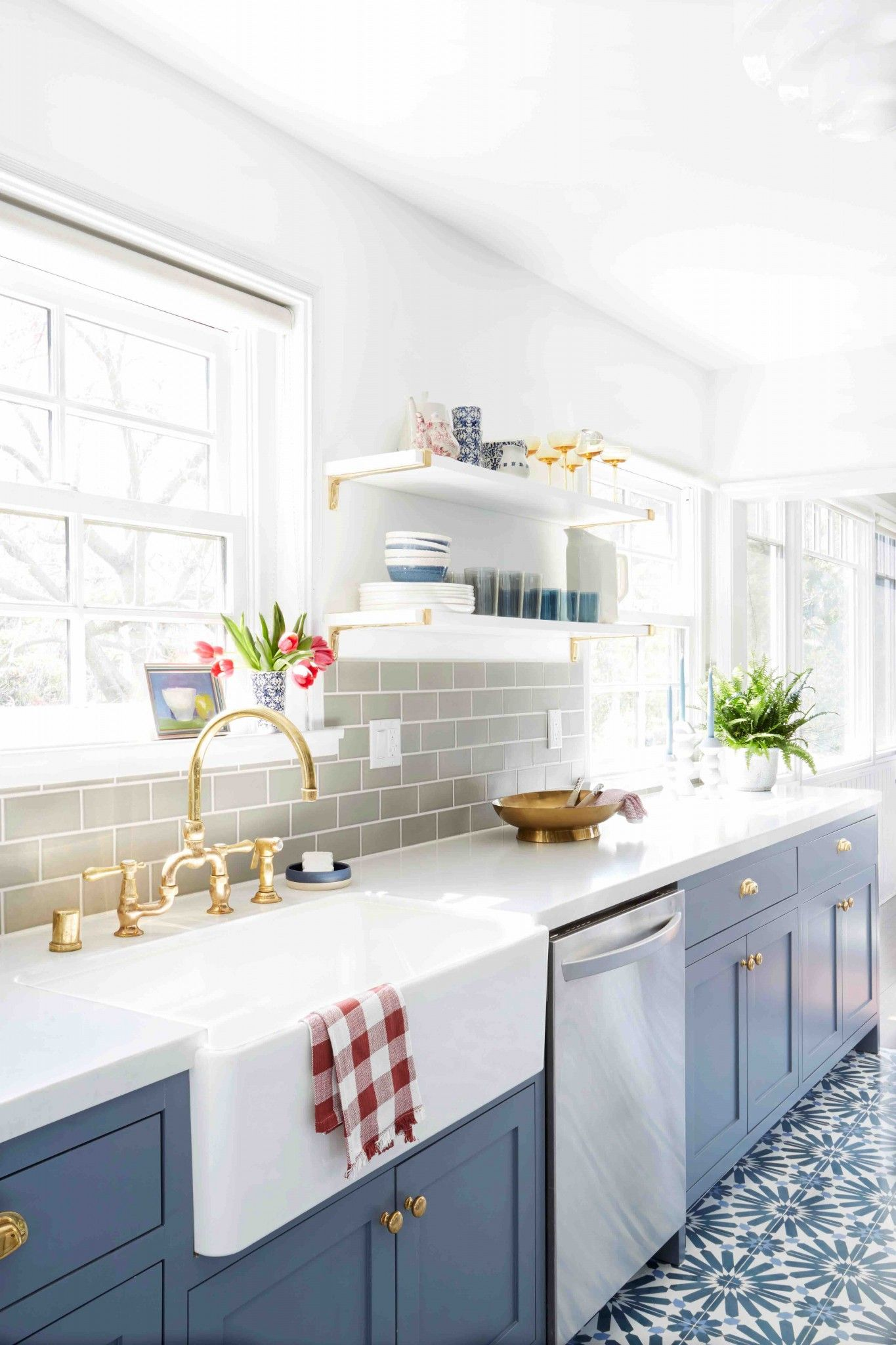 Kitchen Crush: All Shades of Blue signed Style by Emily Henderson #kitchencrushes