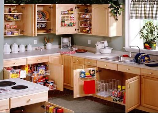 Kitchen Cabinet Organizers For Clutter Free Cooking Iu0027m Not A Huge Fan Of  The Wire Baskets In The Pic, But Iu0027m All About Roll Out Drawers For More  Effective ...