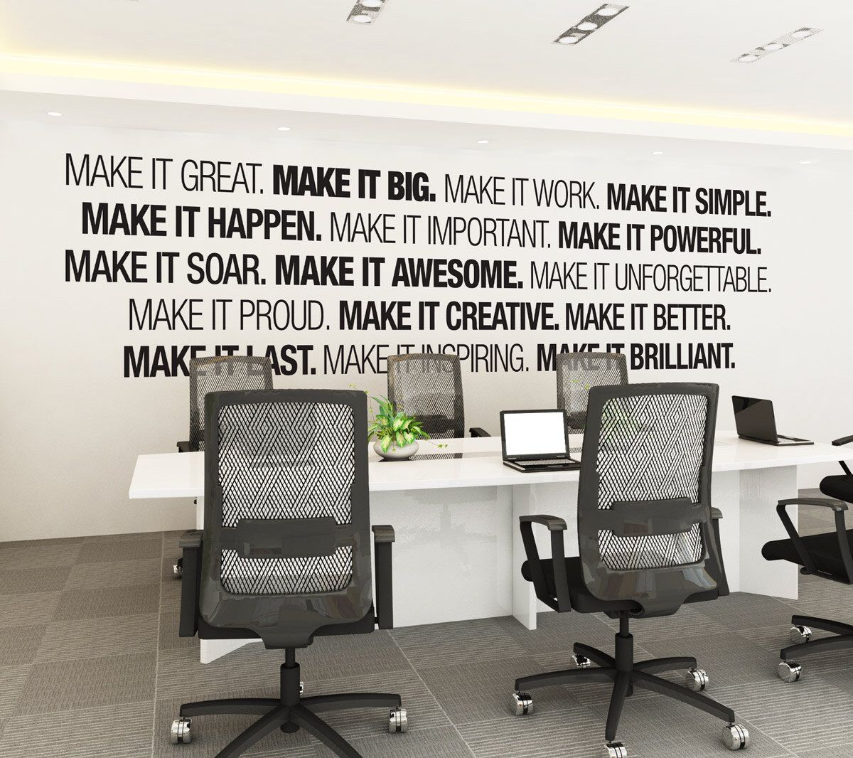 office wall art. Office Wall Art - Corporate Supplies Decor Typography Decal Sticker Sign SKU:MIB By HomeArtStickers On E