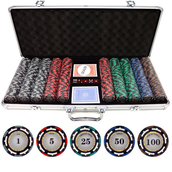 free shipping this complete poker chip set includes the following items 500 z - Poker Chips Set