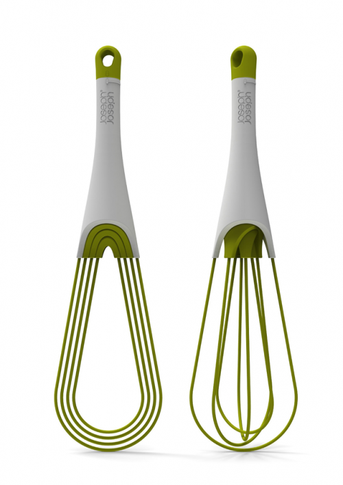 These are perfect for the kitchen. #need joseph joseph is presenting in paris 2 new items: a whisk called Twist which can be either flat or balloon whisk with a simple turn of the handle.