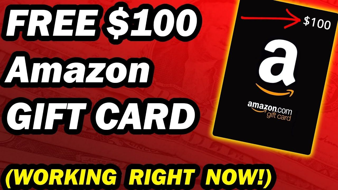 Free amazon gift card codes worth 100 working right