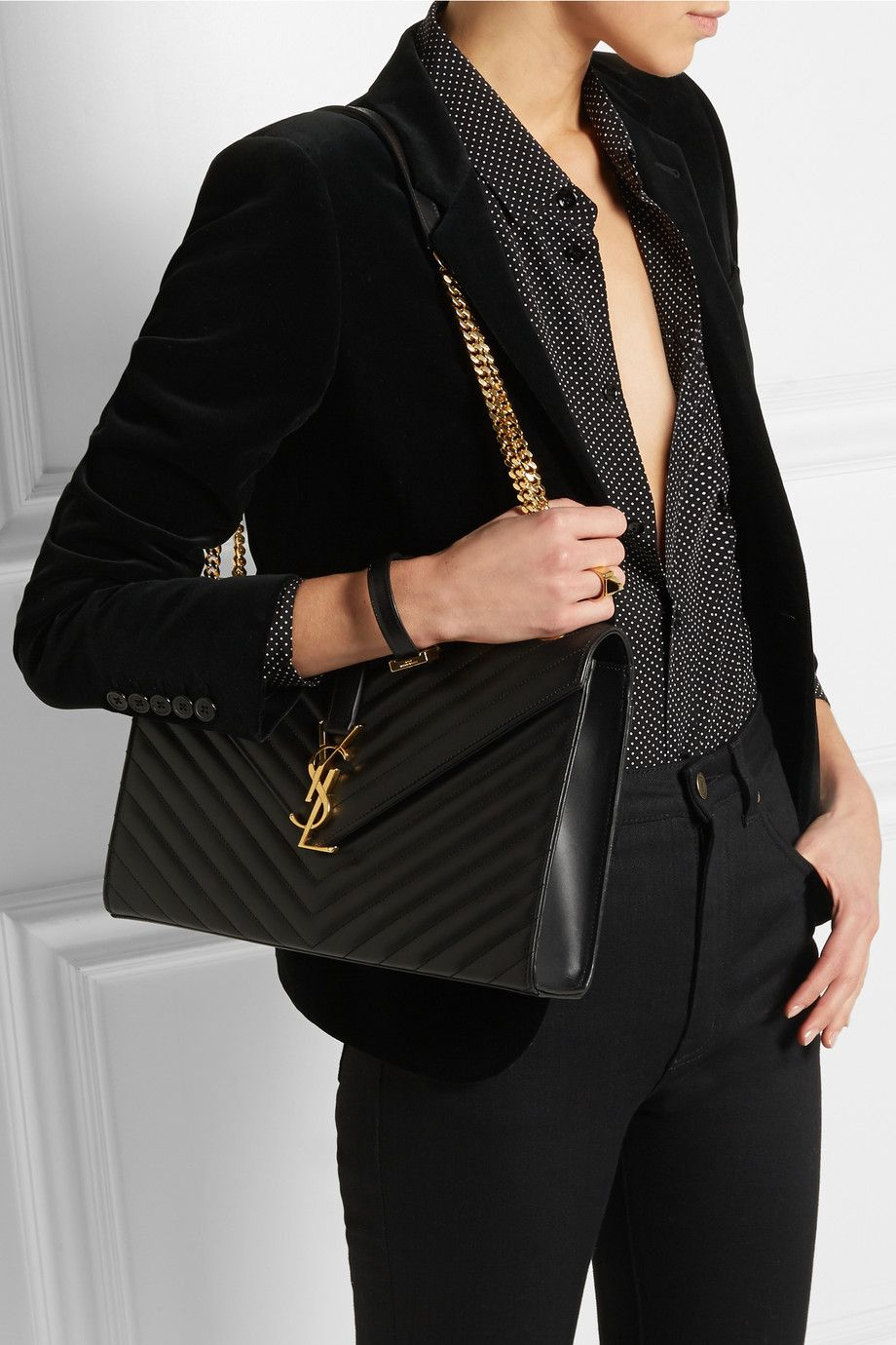 Saint Lau Cassandre Large Quilted Leather Shoulder Bag