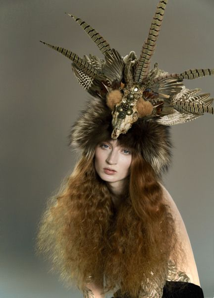 Goddess of the Forset by MIND LIKE MAGPIE  #millinery #hats #HatAcademy