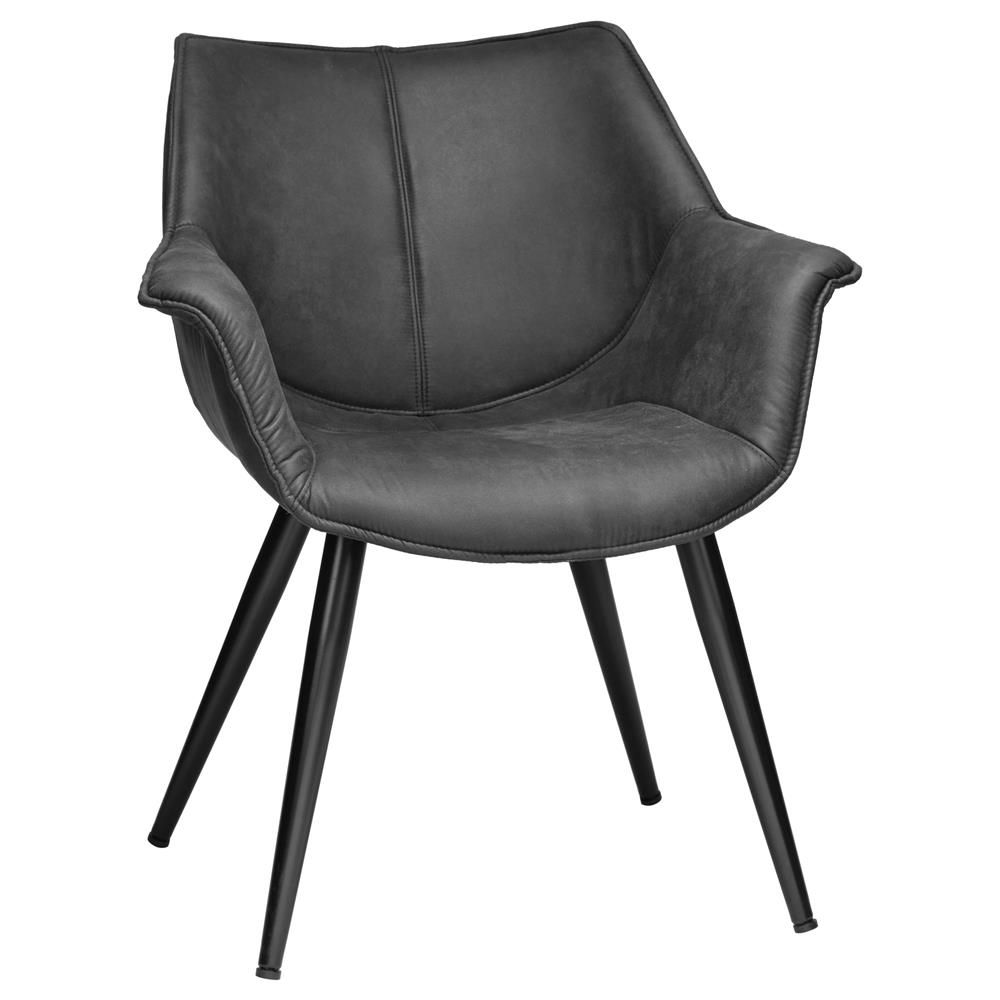 Faux Leather Dining Chair With Metal Legs Dining Chairs