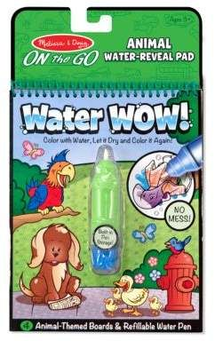 Melissa & Doug Water Wow No-Mess Animal Coloring Book. A reusable ...