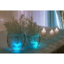 Decoarate area behind bar but use baby's breath and candles